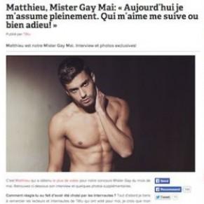 Un Mister Gay de Têtu s'affiche raciste et pro-FN - Malaise