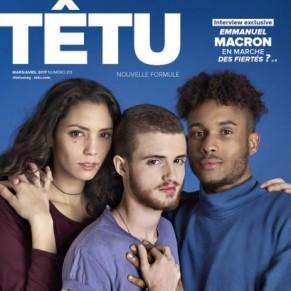 Têtu revient en kiosque, en bimestriel, avec une interview de Macron