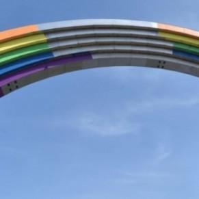 L'Arche de la diversité ne sera pas totalement repeinte aux couleurs arc-en-ciel - Eurovision à Kiev