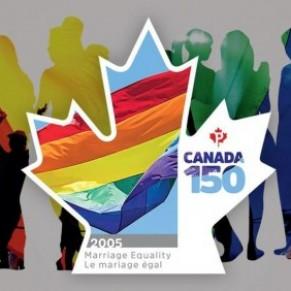 Un timbre pour célébrer le mariage pour tous - Canada