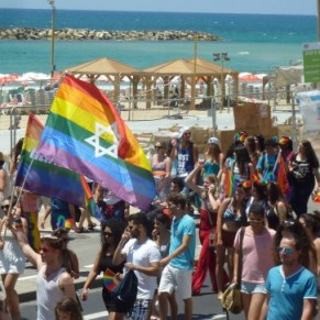 Foule joyeuse à la Gay Pride de Tel-Aviv - Israël