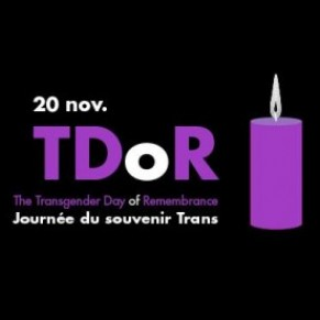 SOS homophobie invite à commémorer la Journée du souvenir des personnes trans  - Transgender Day of Remembrance