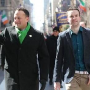 Le Premier ministre irlandais a défilé avec son compagnon à la parade de la St. Patrick à New York - International