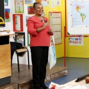 Christiane Taubira défend le mariage gay face à des écoliers  - <I>Au tableau !</I> sur C8