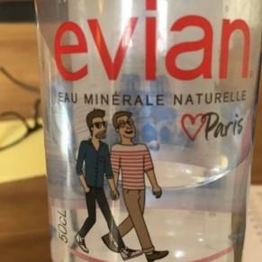 Un visuel gay-friendly sur des bouteilles d'Evian fait bondir les anti-LGBT - Marketing