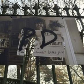 L'exposition déjà recouverte de tags homophobes, à nouveau vandalisée
