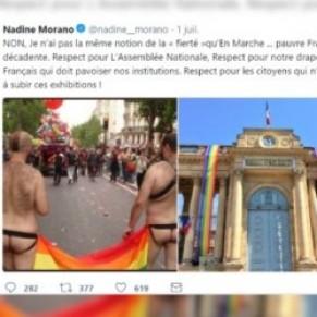 Nadine Morano poursuivie en justice pour un tweet jugé homophobe - Pavoisement de l'Assemblée nationale