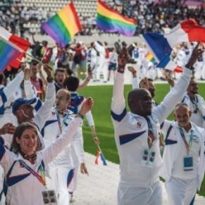 Défilé festif, spectacle et soirée au Stade Jean-Bouin pour l'ouverture des Gay Games - Paris 2018