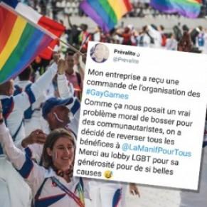 La commande à une entreprise qui se vantait de reverser ses bénéfices à La Manif pour tous annulée  - Gay Games