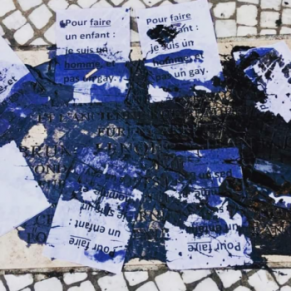 Un homo déséquilibré revendique le vandalisme contre la plaque commémorative de la rue Montorgueil  - Paris