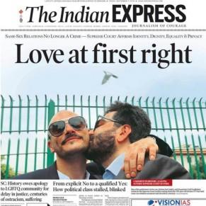 La presse indienne salue la dépénalisation de  l'homosexualité - Inde