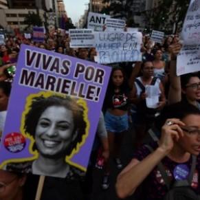 Hommages à l'élue homosexuelle Marielle Franco, un an après son assassinat - Brésil