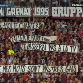 Metz-Paris SG brièvement interrompu pour une banderole homophobe - Football