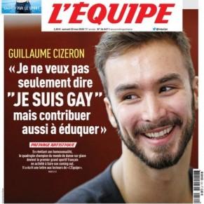 Guillaume Cizeron raconte son chemin vers le coming out dans L'Equipe - Médias
