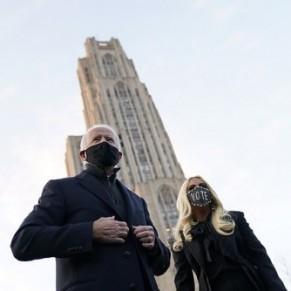 Lady Gaga et concert de klaxons pour le grand final de Joe Biden - Etats-Unis / Présidentielle